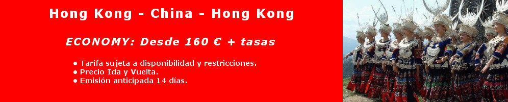 vuelos HongKong China
